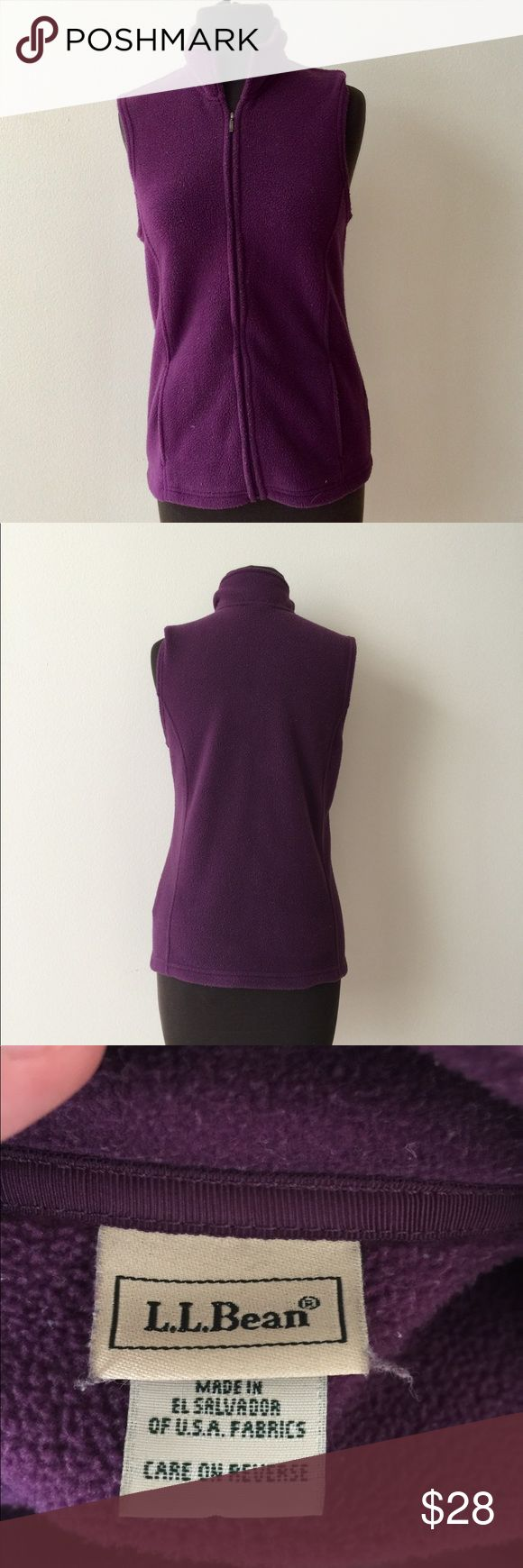 ❗️LL Bean Purple Zip Up Fleece Vest MSRP $98 ❗️LL Bean Purple Fleece Zip Up Vest. Retails $98. Size small in good condition. Buy this item at list price & get any 2nd item of equal or lesser value FREE! OR feel free to make an offer! I'm selling to the first reasonable offer I receive! Huge Clearout Sale for the holidays! L.L. Bean Jackets & Coats Vests