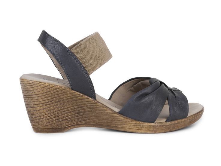 Caprice Dámské páskové sandály na klínku šíře G 9-28385-20 / modrá