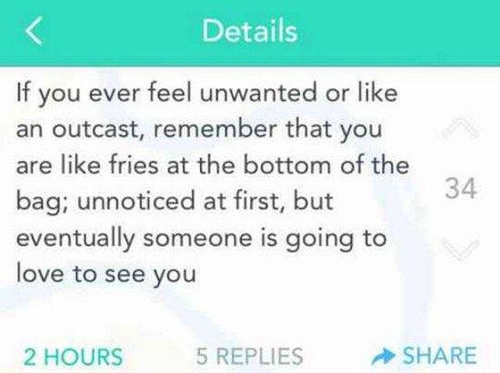 Feel unwanted?