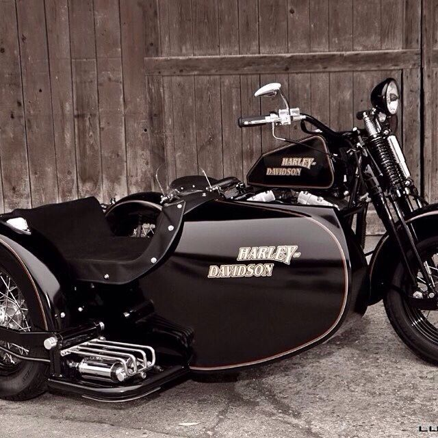 Harley with sidecar