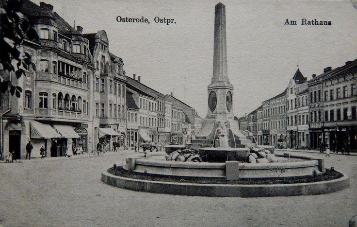 Osterode, Ostpr. Am Rathaus. 1916.