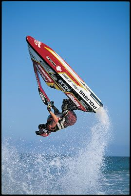 Jet ski... vertically! Back in the day my husband raced Jet Ski's I love watching. My boys loved spending time at the Jet Ski races with Daddy when they were little!!