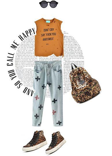 с чем носить леопардовые кеды, fashion look with leopard print 2014