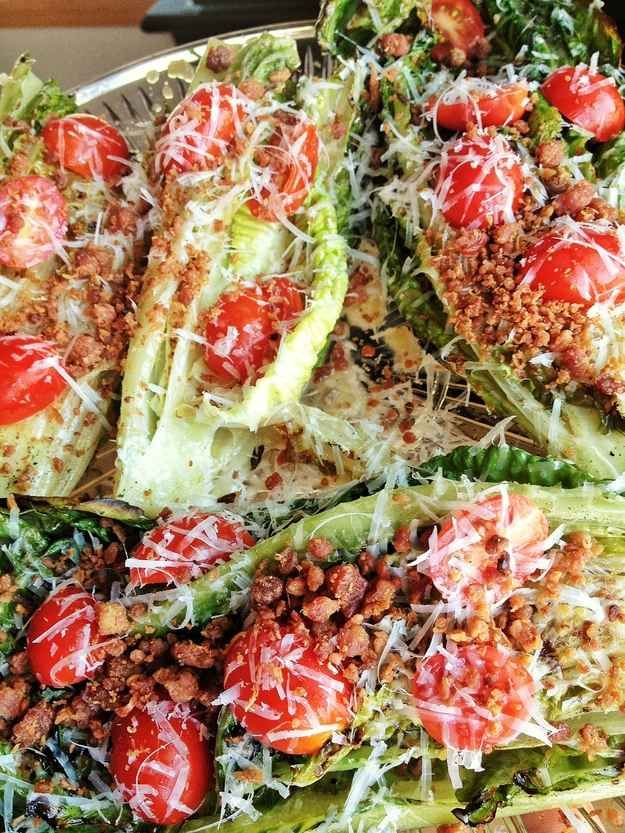 Grilled Romaine and Parmesan Salad