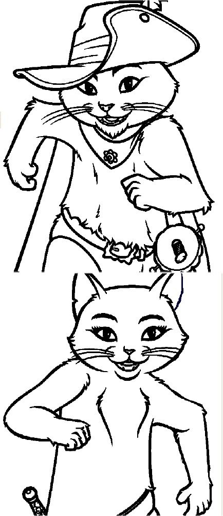 51 best puss in boots images on pinterest kitty cats for Puss in boots movie coloring pages