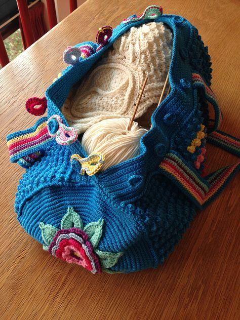Mermoz Round Bag Crochet Free Pattern