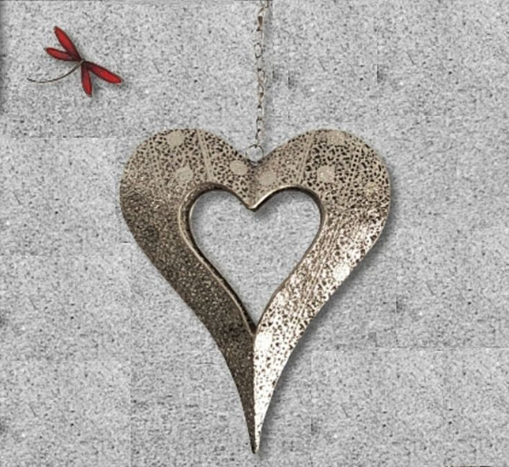 The Gecko Shack - Silver - Hanging Heart Candle Holder  - Lisa Pollock Design, $49.95 (http://www.geckoshack.com.au/silver-hanging-heart-candle-holder-lisa-pollock-design/)