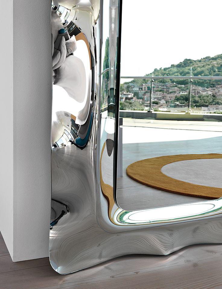DORIAN mirror by @fiamitalia_ designed by Massimo Iosa Ghini #fiamitalia #iosaghini #design #mirror #furniture #homedecor #arredamento #interiordesign