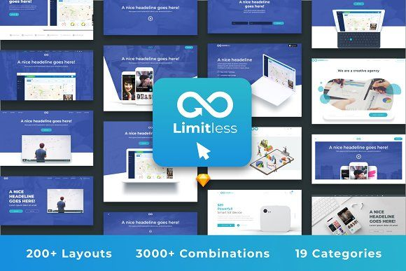 Limitless For Web Web Design Projects Website Template Design Web Template Design