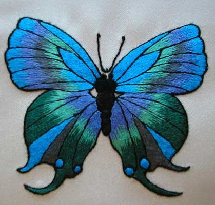 papillon bleu- Joselyne Kurc