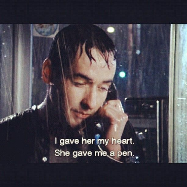 """Say Anything"" (1989) John Cusack. I love John Cusack and 80s movies. This movie was a plus for me:)"