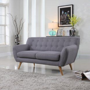 Small Couches For Small Spaces Wayfair Mid Century Modern Sofa