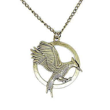 lureme®the Hunger Games Mockingbird form tosidet vedhæng halskæde – DKK kr. 38