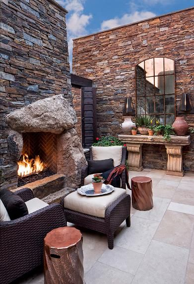 Photo Detail.. Outdoor Fireplace...'