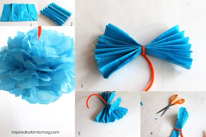 How To Make Tissue Paper Flowers Crafts Diy Ideas Pinterest