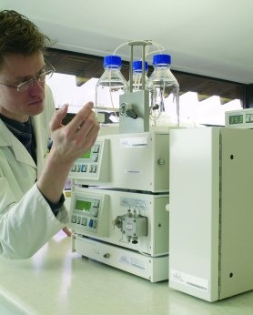 Manual injection onto an IonQuest ion chromatography system.