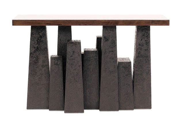 Housesteads Contemporary Style Console Featuring a Unique Luna Finish