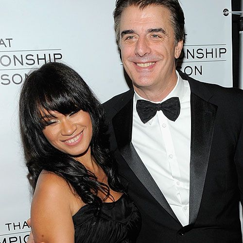 Chris Noth marries his longtime girlfriend Tara Wilson. Go Mr. Big! #relationships #interracial #love