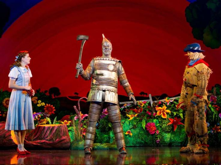 LaSalle's Danielle Wade, left, as Dorothy, Mike Jackson as Tin Man and Jamie McKnight as Scarecrow star in The Wizard of Oz . (Cylla von Tiedemann/Mirvish Productions)