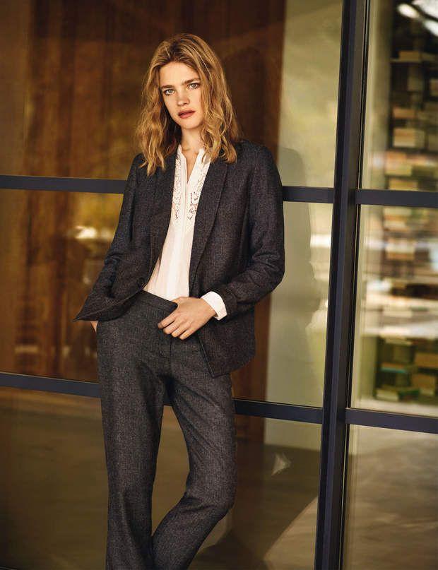 ModerneChemise, 39,95 €, veste 59,95 € et pantalon, 39,95 €, le tout Etam
