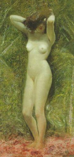 """giovanni segantini; nudo femminile – 2014 @ kunstmuseum bern – exhibition: """"sesam öffne dich! anker, hodler, segantini..."""""""