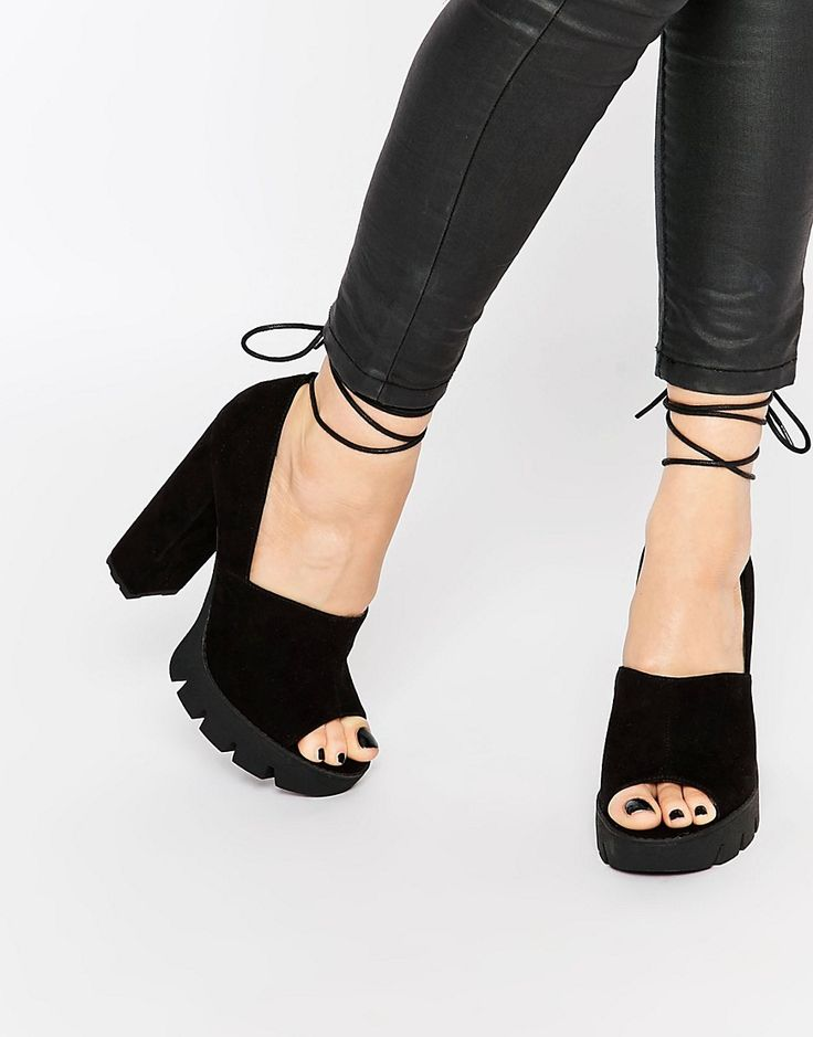 Image 1 ofASOS ONSIDE Heeled Sandals