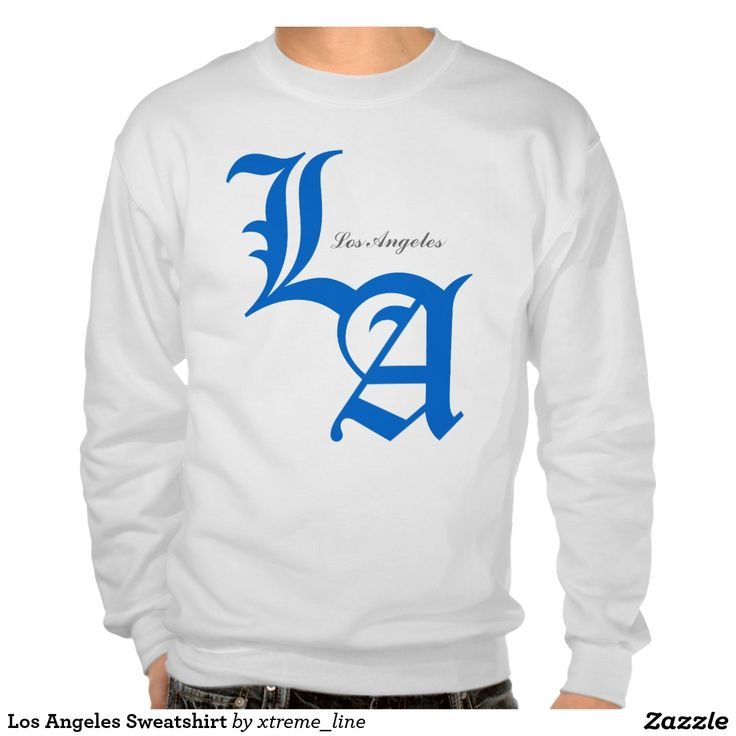 Los Angeles Sweatshirt. California Clothing. #California #Clothing #Zazzle