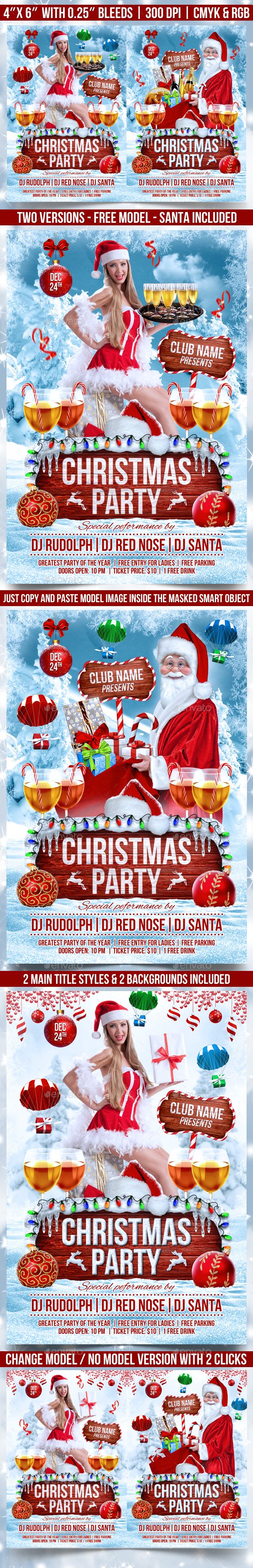 #Christmas #Party #Flyer Template - Events Flyers