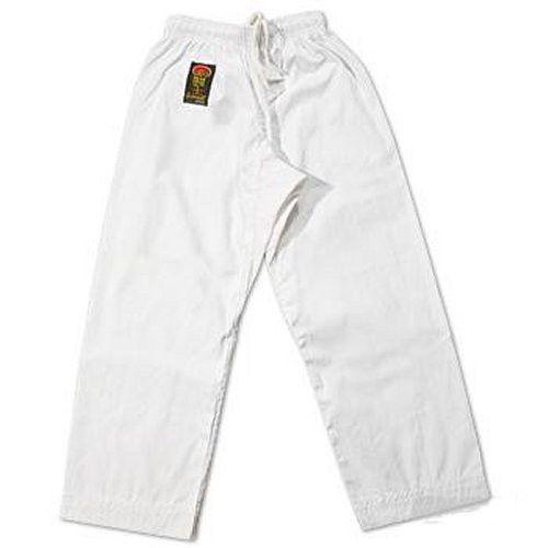 ProForce Gladiator 6 oz Karate Pants White Elastic Waist