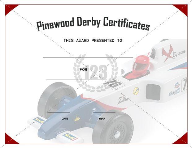 Get best pinewood derby certificate template for Pinewood derby certificate pdf