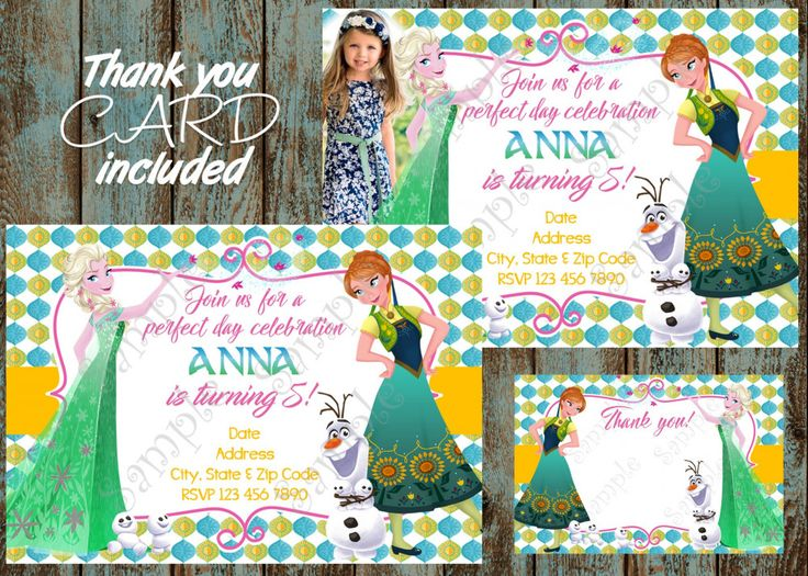The 15 best frozen birthday party ideas images on pinterest free frozen fever birthday party invitation free thank you card stopboris Gallery