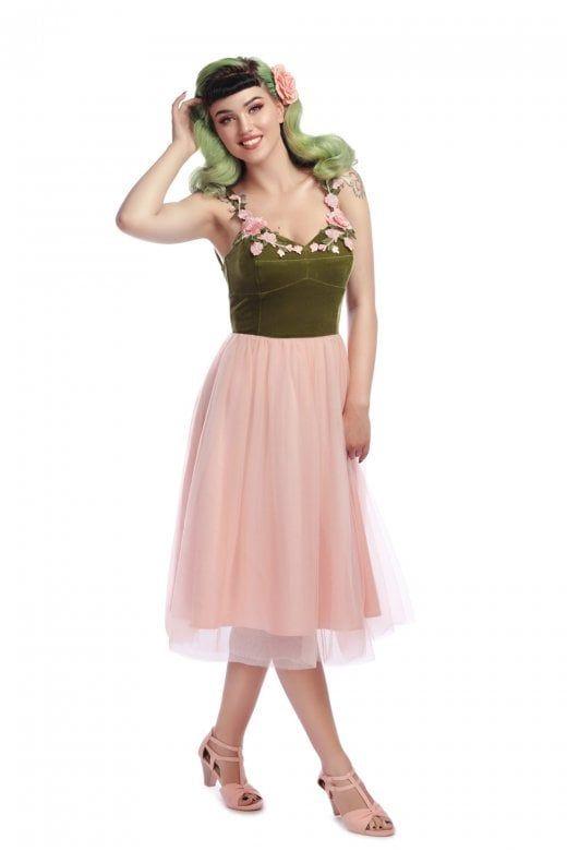 e70a3f1c899cc Collectif Vintage Josie Floral Occasion Swing Dress - Collectif Vintage  from Collectif UK