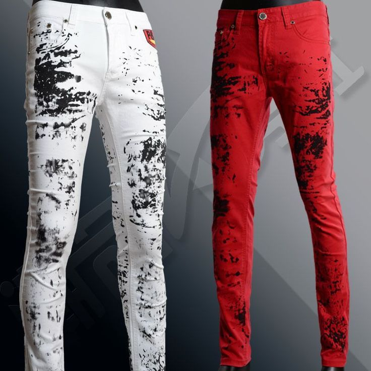 2015 Autumn Mens Printed Jeans Flag Printing Design White Jeans For Men Stars Striped Straight Ripped Jeans Male 36 MB359 Z45 #Affiliate