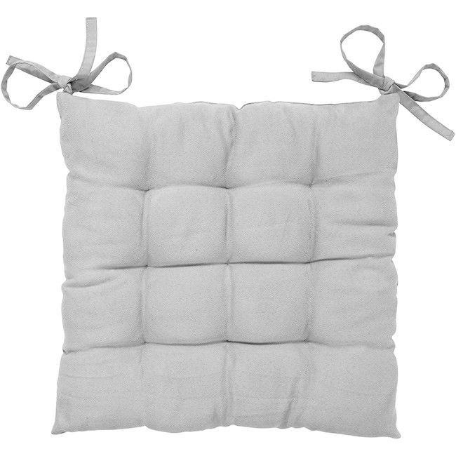 Galette de chaise gris - Coussin / Jeté de canapé - Textile déco - Décoration | GiFi