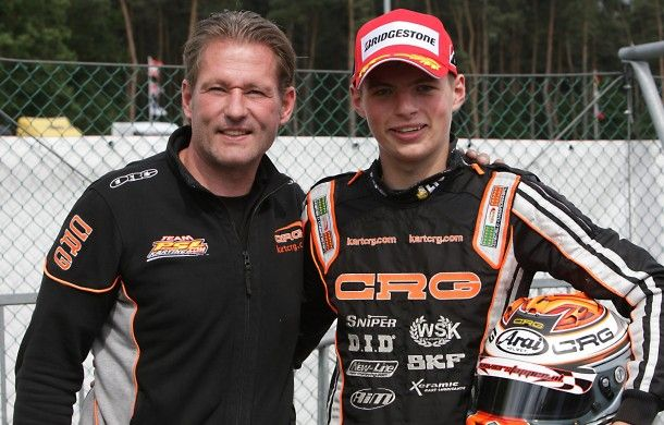 Jos and Max Verstappen. Max is due to become F1s youngest driver. He will be 17 when he makes his debut for Torro Rosso.