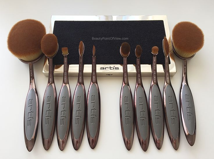Artis Makeup brushes Smoke Collection