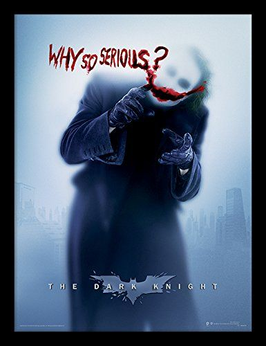 The Dark Knight 30 X 40 Cm Why So Serious Affiche Encadr E Affiches Illustrations