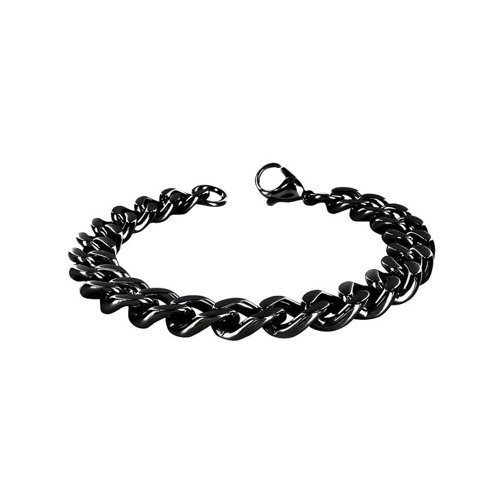 Men's Crucible Stainless Steel Chain Bracelet - Black