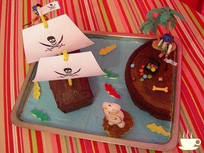 Un gâteau d'anniversaire rigolo pirate ! | Merci pour le chocolat !