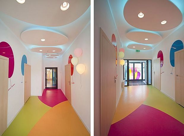 Niebieskie Migdały, Tczew, PL Lights On Roof. Find This Pin And More On  Interiors | Nursery School ...