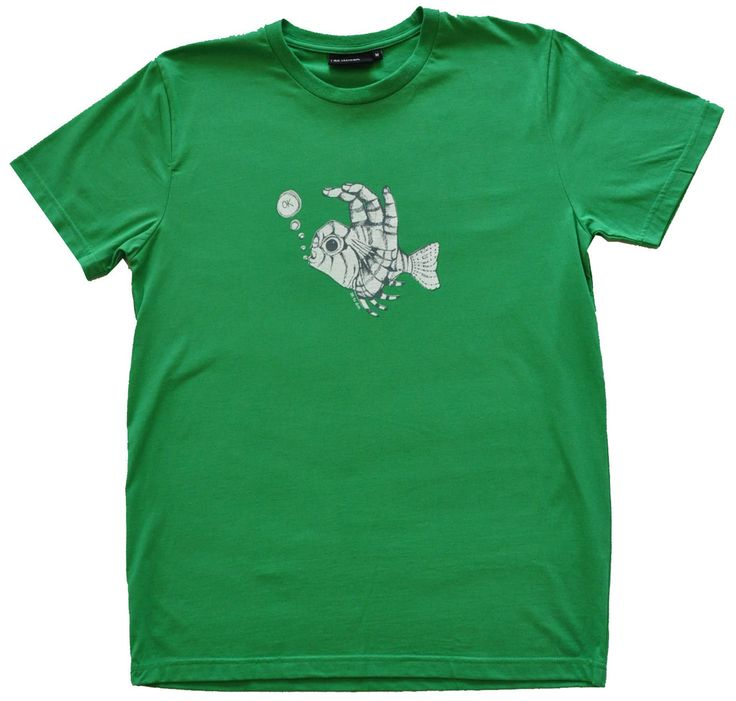 Mens Fish Fingers T Shirt Meadow Marle