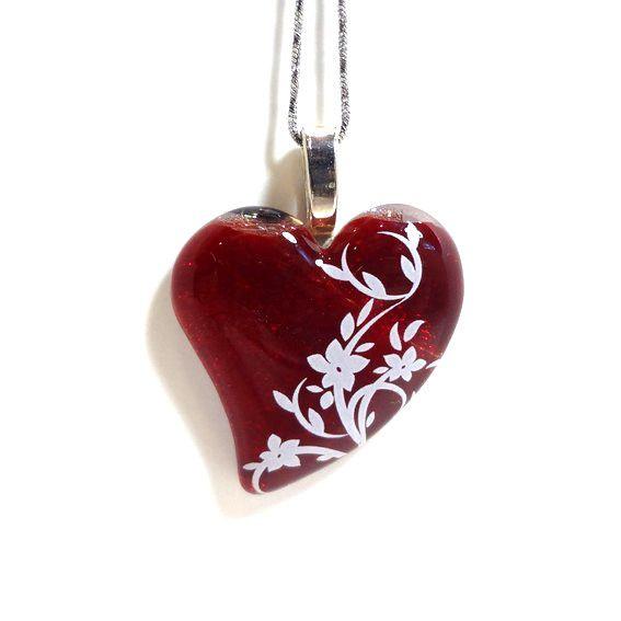 bijoux le fil dariane coeur rouge