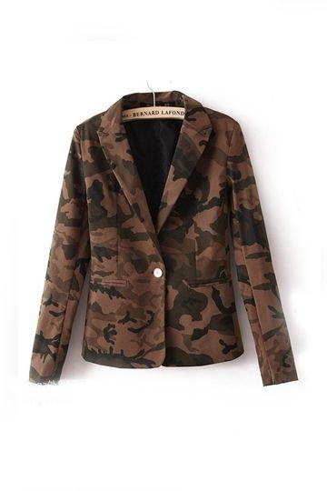 #persunmall Cool Camouflage Slim Fit Blazer [FFBI0232]- US$ 34.99 - PersunMall.com