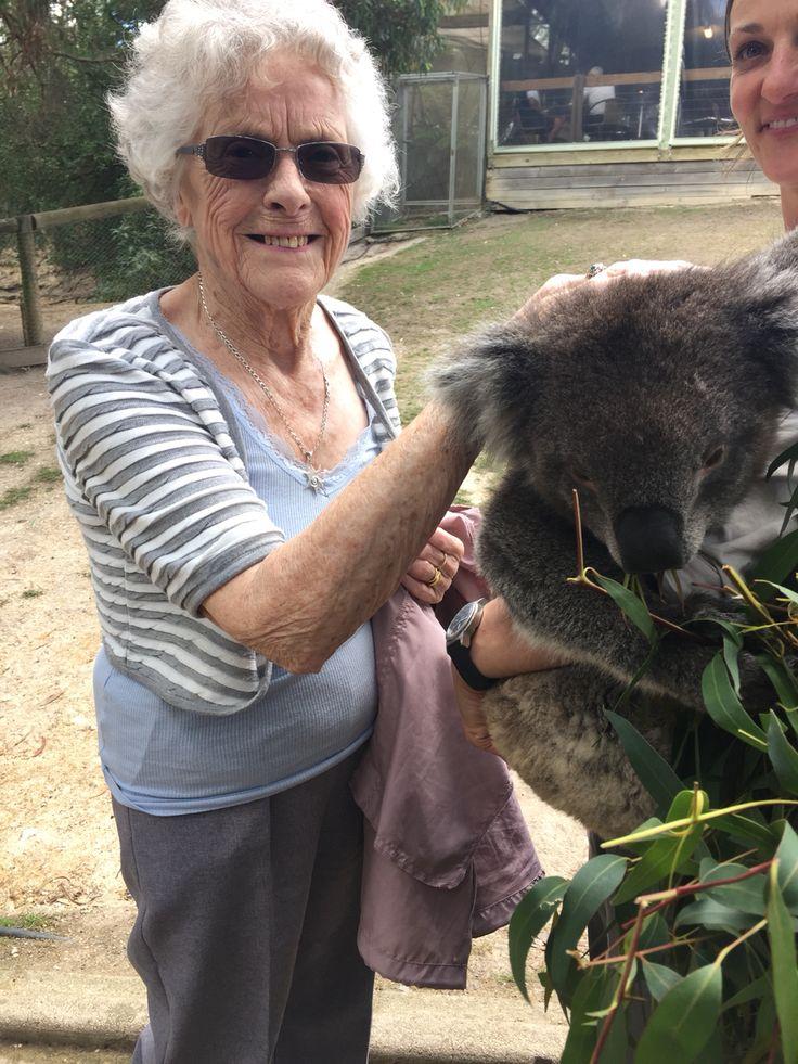 Nan with a koala