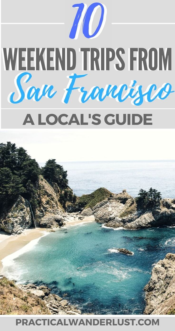 A local's guide to the 10 best weekend trips from San Francisco and the Bay Area, California! Monterey, Morro Bay, Yosemite, Santa Cruz, Lake Tahoe, Healdsburg, Mendocino, Big Sur, and more Northern and Central California travel.
