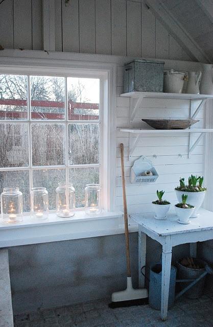 simplicity. potting room