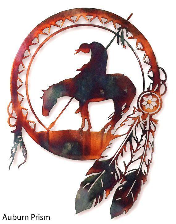 End Of The Trail Dreamcatcher Etsy Native American Dream Catcher Tattoo Native Art Native American Symbols
