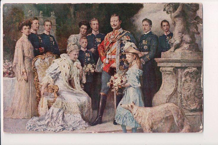 Vintage Postcard Kaiser Wilhelm II Empress Augusta of Germany Family   eBay