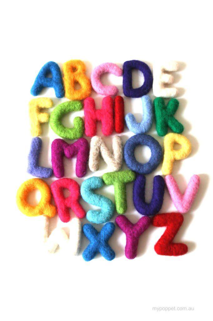 Felted Alphabet