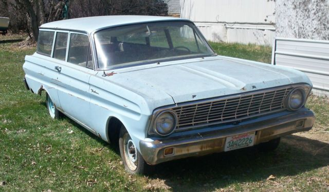 1964 Ford Falcon 2 Door Station Wagon 6 Cyl 3 Spd Manual Great